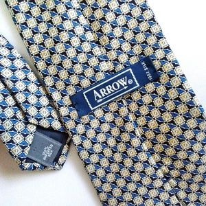 Arrow Accessories - Arrow 100% Silk Square Patterned Men's Neck Tie